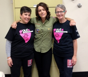 Brandi Carlile with O4I Volunteers